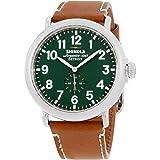 Shinola The Runwell Green Dial Maple Aniline Latigo Leather Mens Watch S0100038