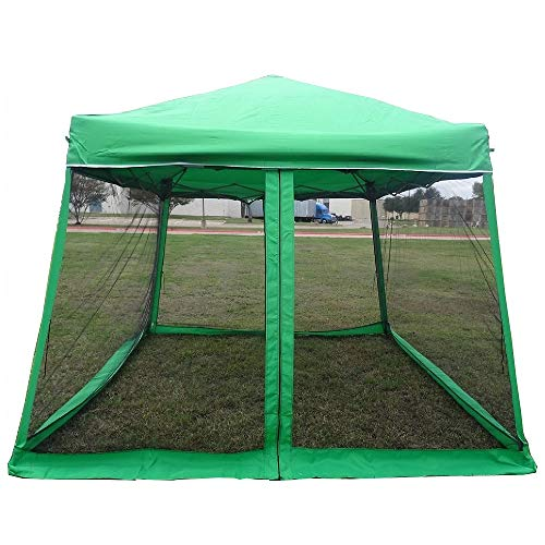 8'x8'/10'x10' Pop up Canopy Party Tent Gazebo Ez with Net - Green by DELTA Canopies