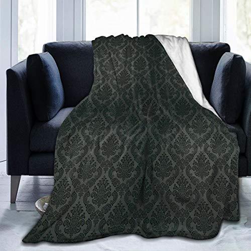 Manta de forro polar con diseño de damasco antiguo, estilo victoriano, vintage, con elementos de diseño de supervivencia, medieval, barroco, de franela, suave, cálida, para invierno, 50 x 65 pulgadas, para cama, sillón, oficina