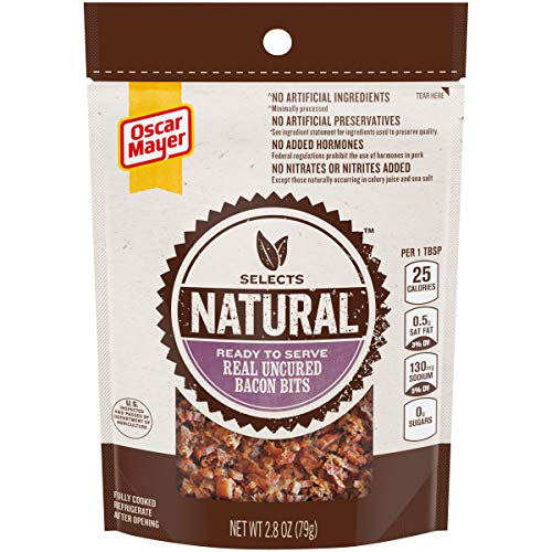 Oscar Mayer Selects Natural Ready to Serve Real Uncured Bacon Bits (2.8 oz Packages, Pack of 6)