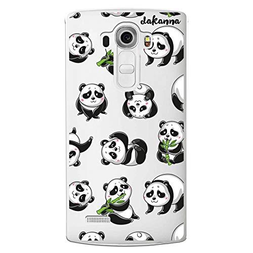 dakanna Funda Compatible con [LG G4] de Silicona Flexible, Dibujo Diseño [Panda], Color [Fondo Transparente] Carcasa Case Cover de Gel TPU para Smartphone