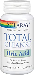 Solaray Total Cleanse Uric Acid | Tart Cherry, Bromelain, Quercetin and More | Joint Comfort Support | Vegan | 60 Caps