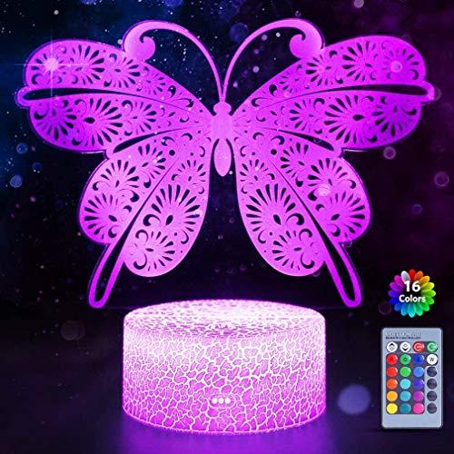 LF-MJ Kinder mit Fernbedienung Touch 16 Farben ändern Kinderzimmerdekoration 3D Optische Illusion Kinderlampe