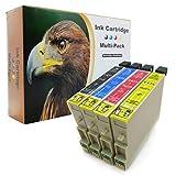 D&C - Juego de 10 cartuchos de tinta compatibles con Epson T611-T614, D68, D88, DX 3800, DX 3850, DX 4200, DX 4250, DX 4800, DX 4850