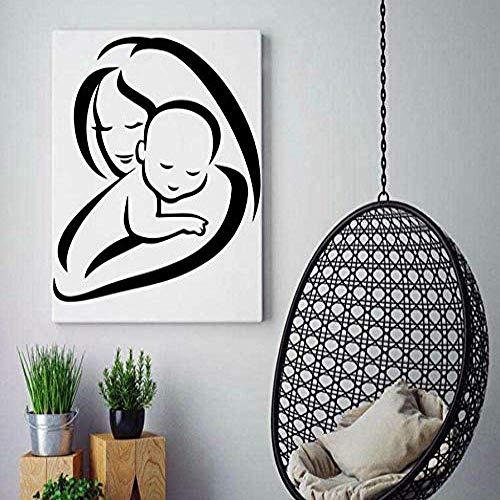Muts en baby stickers decor Moederlijke liefde DecoraDie Babys kamerdecoratie zelfklevend vinyl waterdichte muurkunst sticker 60 * 70