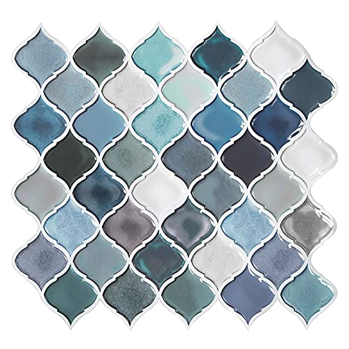 Peel and Stick Tiles Backsplash for Kitchen - Kitchen Backsplash Tile, Adhesive Backsplash, Stick on Backsplash, Stick on Tiles for Kitchen Bathroom RV 11   x 10   (5 Sheets)