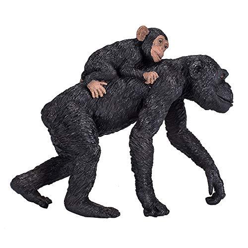MOJO- Animal Planet Chimpancé y su bebé, Color Negro (387264)