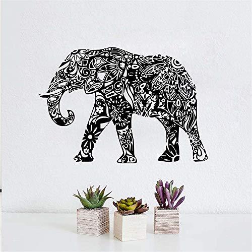 Stickers Muraux Éléphant Indien, Chambre, Maison, Décoration, Modèle Mandala