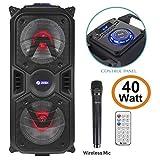 Zoook Rocker Thunder Plus 40 watts Karaoke Bluetooth Party Speaker with Remote & Wireless Mic(Black)