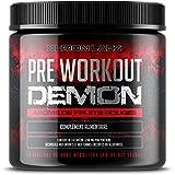 Pre Workout Demon (Parfum fruits rouges) – Complément puissant pré-entrainement avec créatine, caféine, bêta-alanine et glutamine (306 grammes, 40 portions)