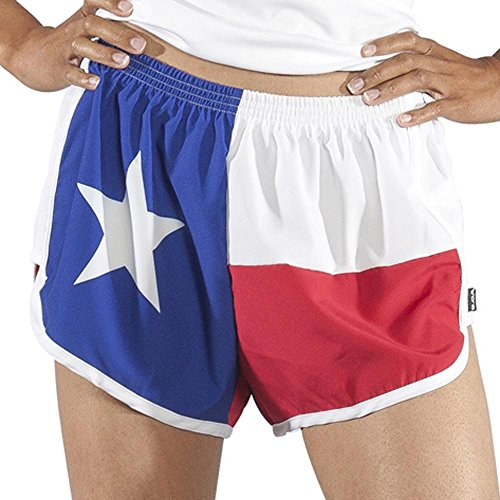 BOA Women's Print Challenger Texas Flag Running Short (Texas Flag, Medium)