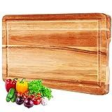 InnoStrive Cutting Board 100% Environmental Friendly Acacia Wood Cutting Board For Kitchen Organic...