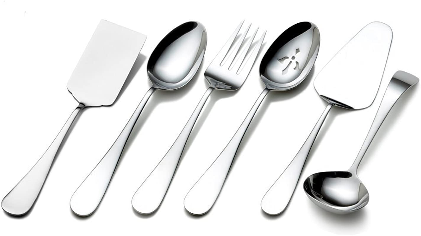 Towle Living 5072433 Basic 6 Piece Stainless Steel Hostess Set