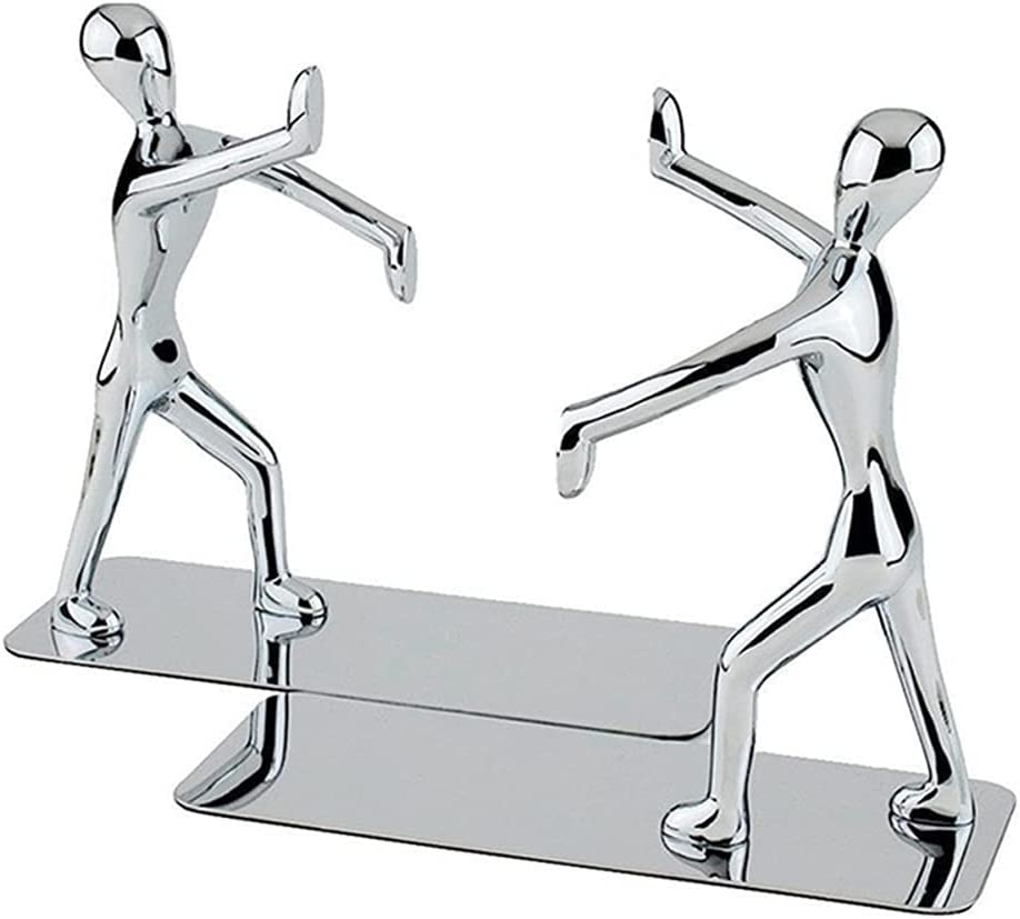 Mingl Heavy Duty Stainless List Limited time cheap sale price Steel A Man Nonskid Bookends bookends