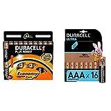 Duracell Plus AA Mignon Alkaline Batterien LR6, 20er Pack und Ultra AAA Micro Alkaline Batterien LR03, 16er Pack