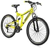 Benotto Bicicleta Montaña Sniper R27.5 21V Doble Suspensión - Amarillo