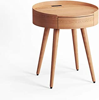 VBARV Table de Chevet Intelligente, Table de Nuit multifonctionnelle avec Haut-Parleur Bluetooth intégré, Conception de Po...
