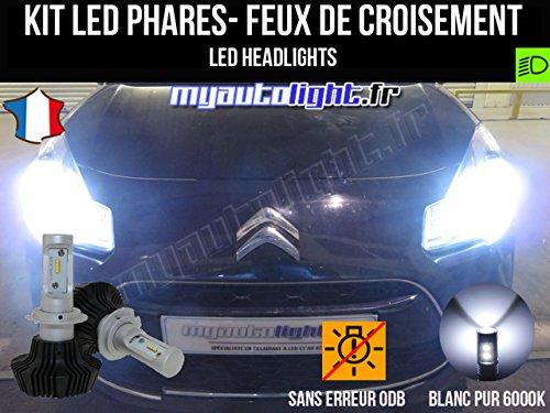 MyAutoLight- Kit Ampoules de phares à LED H7 Haute Performance pour C3 II