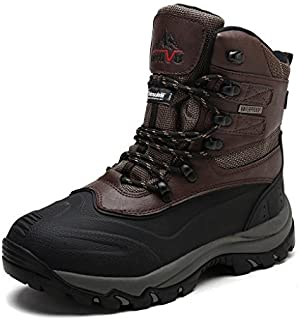 NORTIV 8 Men's Insulated Waterproof Construction Rubber Sole Winter Snow Skii Boots
