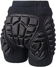 Soared 3D Protection Hip Butt EVA Paded Short Pants Protective Gear Guard Impact Pad Ski Ice Skating Snowboard Black L