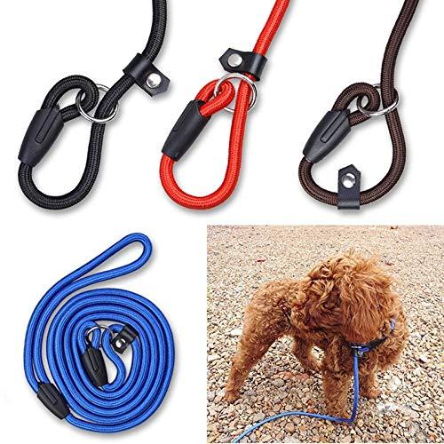 WEIZI - Correa de nailon ajustable para perros de mascotas, correa de entrenamiento, correa para perro, correa de tracción, arnés de perro (color: café, tamaño: S)