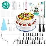 152Pcs Decorazione Torta Set,Professionale Torta Kit di Utensili Decorazioni Torte,Ugello ...