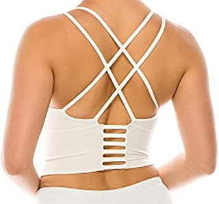 Vibrant Vixen Women's Yoga Bra with Removable Pads and Criss Cross Back Sports Fashion Top