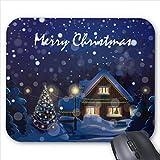Mousepad Merry Christmas Snow Print Mouse Mat