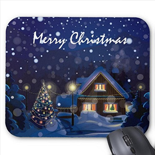 Mousepad Merry Christmas Snow Print Mouse Mat