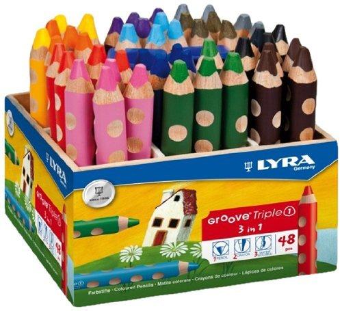 LYRA Groove Triple I Holzaufsteller mit 48 Farbstiften, Sortiert