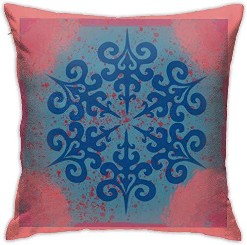 BONRI Copo de Nieve Thing Throw Pillow Covers Funda de Almohada Decorativa con Cremallera Oculta Cuadrada de poliéster , (18'x18 / 45x45cm