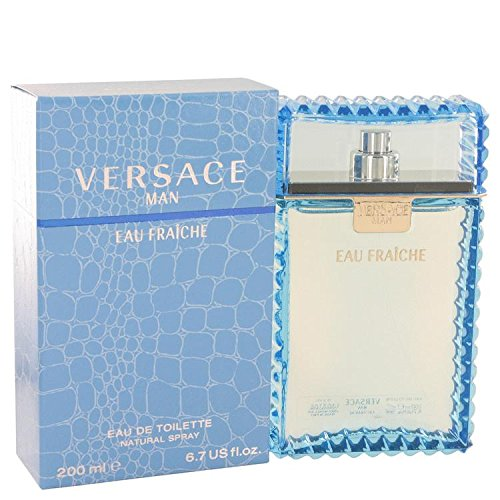 Versace Man by Versace Eau Fraiche Eau De Toilette Spray (Blue) 6.7 oz for Men - 100% Authentic