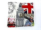 FDD4U Londres Escena Abstracto Impreso Funda de cojín Londres Novedad