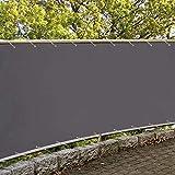 Hisunny GartenSichtschutz 90x700cm 100% Polyester 160g/m² Balkonabdeckung In div. Größen & Farben...