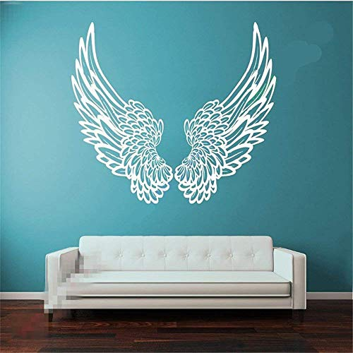 ynisan Wall Sticker Removable Home Decor Wall Vinyl Decals Big Wings Angel God Guardian Bird for Kids Children Room