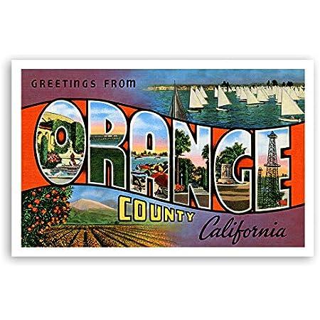 Greetings from Orange County California Postcard Coffee Mug