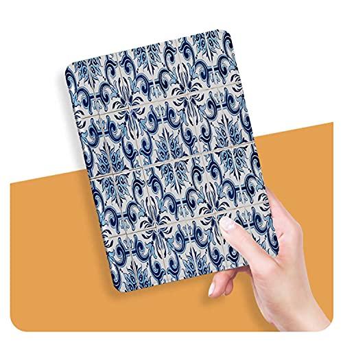 ZHOUHAOMAOYI Funda para iPad Air 4ª Generación 10.9 Pulgadas 2020, Detalle de Primer Plano de Azulejos Antiguos Portugueses Acristalados Auto Wake/Sleep para iPad Air 4 Generación 11.9 pulgadas 2020