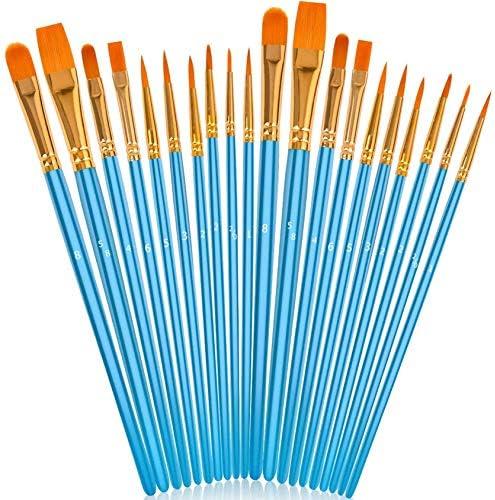 Soucolor Acrylic Paint Brushes Set 20Pcs Artist Paintbrushes Paint Brushes for Acrylic Oil Watercolor product image