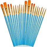 Soucolor Acrylic Paint Brushes Set, 20Pcs Artist Paintbrushes Paint Brushes for Acrylic Oil Watercolor, Canvas...
