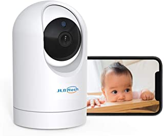 JLB7tech Baby Monitor,WiFi Baby Camera 1080P FHD Pan/Tilt/Zoom Remote View Camera with Crying Alerts,Night Vision,2-Way Audio and Sound&Motion Tracking for Baby/Elder/Pet |Compatible with iOS/Android