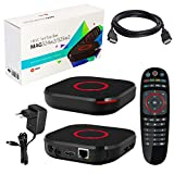 MAG 324w2 original Infomir & HB-DIGITAL IPTV Set TOP Box Multimedia Player Internet TV IP Receiver (HEVC H.256 Support) mit WLAN WiFi integriert 150Mbps (802.11 b/g/n) + HB Digital HDMI Kabel