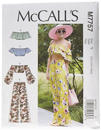 McCall's Patterns Misses' Tops and Pants, Y (XSM-SML-MED)