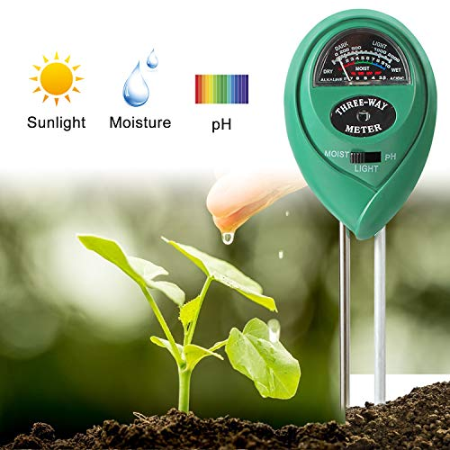 Find Discount AOCOSO Soil Moisture Meter, 3-in-1 Soil Tester, Moisture pH Light Sensor for Planting ...