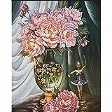 BOYIsy - Kit de pintura de diamante 5D por números para adultos, bordado de punto de cruz, para manualidades, decoración de pared, 30 x 39,9 cm