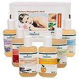 Probierset Wellness-Massageöl, Massage Öl, Physiotherapie 6 Flaschen à 50 ml