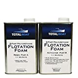 TotalBoat 2 Lb Density Expanding Foam Kit, 2 Part Closed Cell Polyurethane Liquid Foam for Boat and Dock Flotation, Insulation, Soundproofing and Filling Voids (2 Quart Kit)