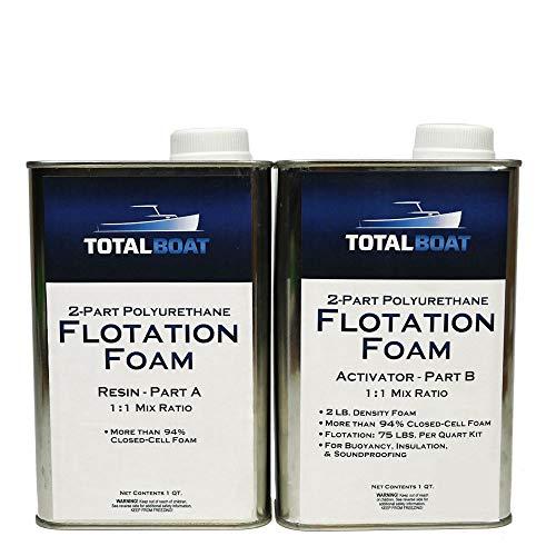 TotalBoat - Kit de espuma expandible de densidad de 2 libras, espuma líquida de poliuretano de células cerradas para flotación de barcos y muelle, aislamiento, insonorización y vacíos de llenado (kit de 2 cuartos de galón)