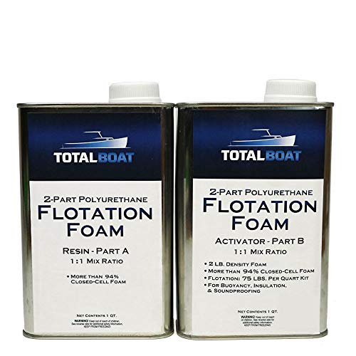 TotalBoat Liquid Urethane Foam Kit 2 Lb Density, Closed Cell for Flotation & Insulation (2 Quart Kit) (TB-Foam)