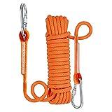 NewDoar Cuerda de escalada estática de 10 mm (3/8 pulgadas) Equipo de cuerda de escape Equipo de escalada en hielo Cuerda de rescate de incendios (naranja/10 m)