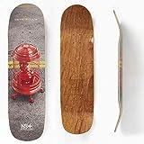 Metropollie Tabla de Skate Pool Shape 8.625 Jaula, Skate para Niños Niñas Adolescentes Adultos Principiantes, Tabla de 7 Capas 100% Madera de Arce Canadiense Hard Rock, Rojo, Normal (TABLAJAULA8625)